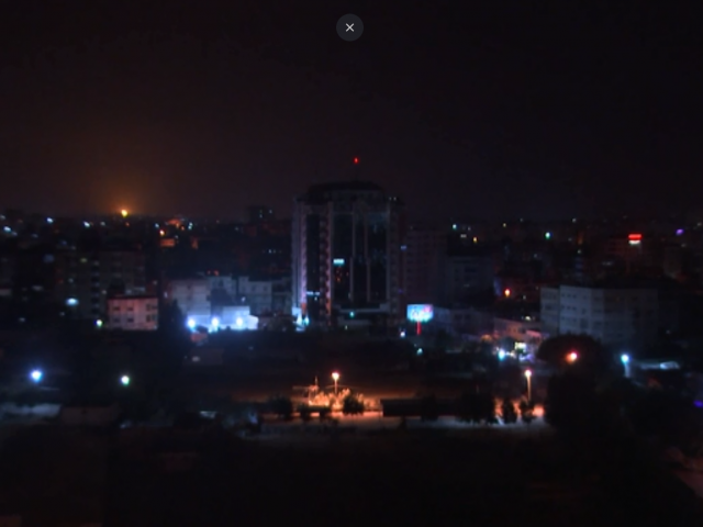 Gaza skyline. Courtesy AP
