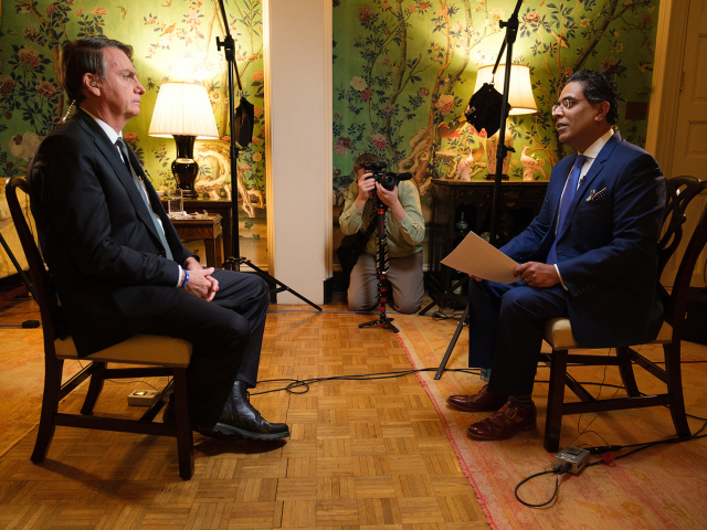 CBN News' George Thomas sits down with President Jair Bolsonaro in exclusive Interview