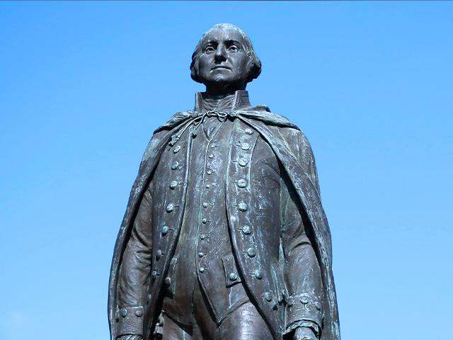 File photo of a George Washington statue (AP photo)