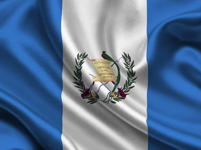 Bandera de Guatemala.