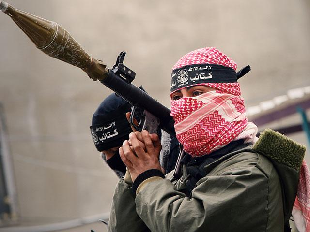 Hamas fighter, Photo, AP