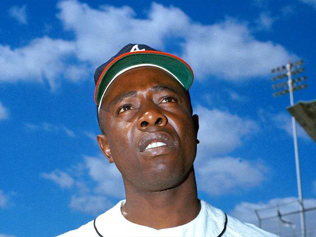 Atlanta Braves' Hank Aaron is seen, March 1967. (AP Photo)