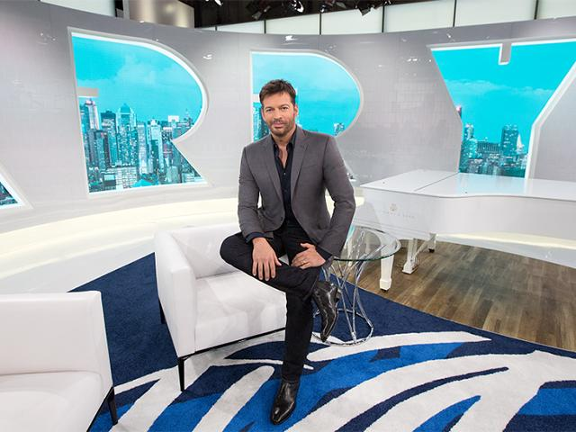 Harry Connick Jr on Harry daytime talk show set