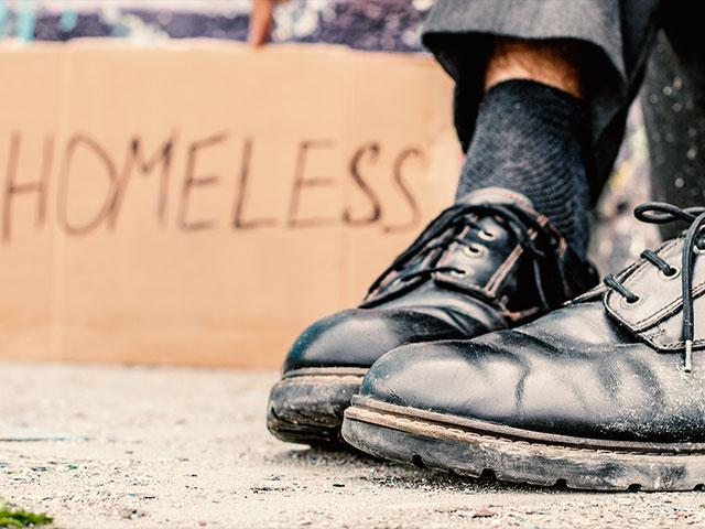 Homeless Man Shoes