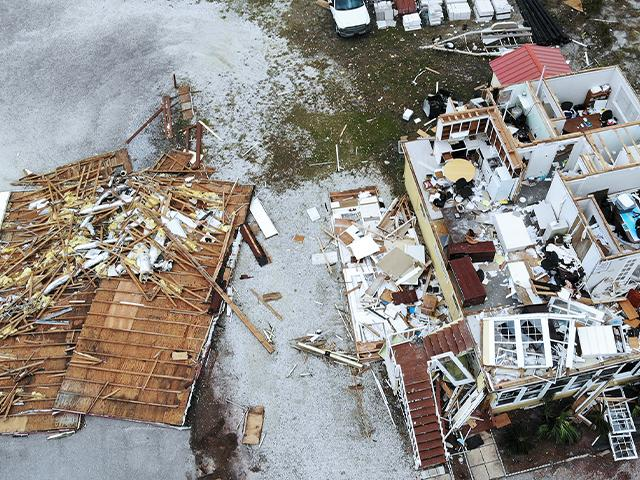 Hurricane Sally's damage in Florida (AP Photo)