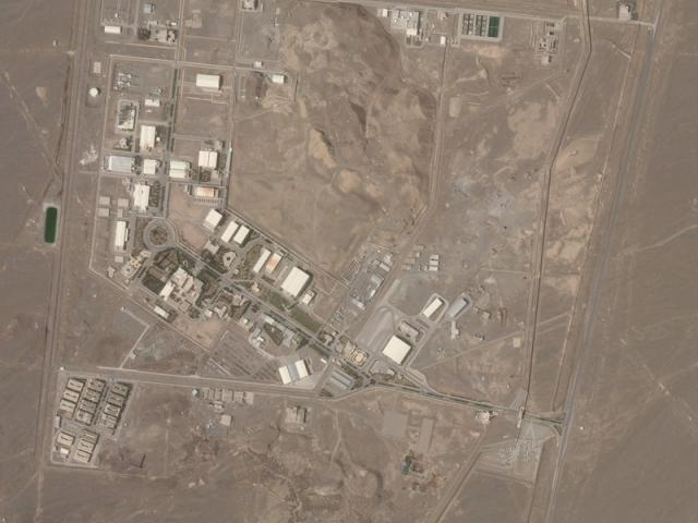 Iran's Natanz nuclear site suffered a problem Sunday, April 11, involving its electrical distribution grid (Planet Labs Inc. via AP)