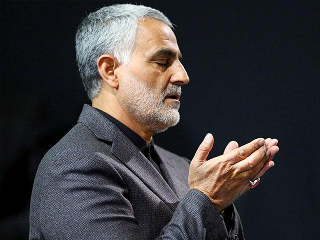 In this 2015 photo, the commander of Iran's Quds Force, Qassem Soleimani, prayed in an Islamic ceremony at a mosque in the residence of Supreme Leader Ayatollah Ali Khamenei, in Tehran, Iran. (AP Photo/Office of the Iranian Supreme Leader)