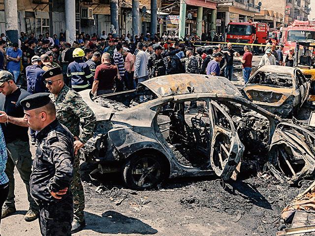 Iraq Bomb Attack AP