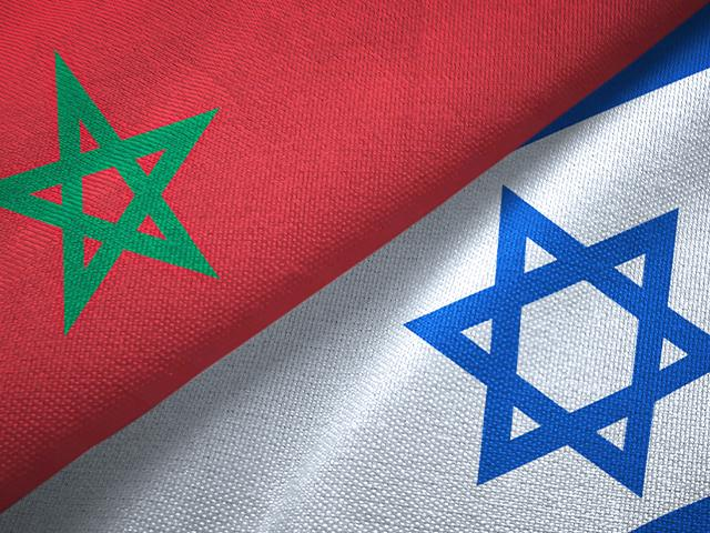 Israeli and Moroccan flags