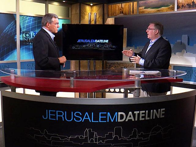 Chris Mitchell and Joel Rosenberg, Photo, CBN News, Jonathan Goff