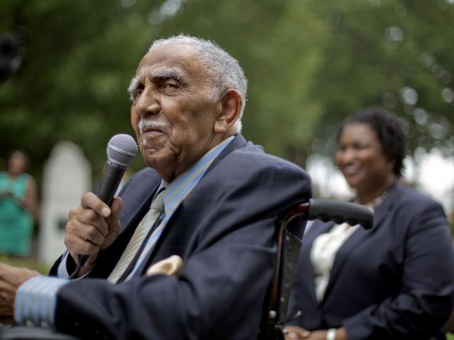 In this Aug. 14, 2013, file photo, civil rights leader the Rev. Joseph E. Lowery speaks at an event in Atlanta (AP Photo/David Goldman, File)