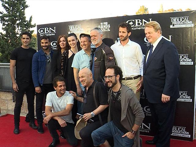 Cast of 'In Our Hands' with CBN CEO Gordon Robertson and Film Director Erin Zimmerman