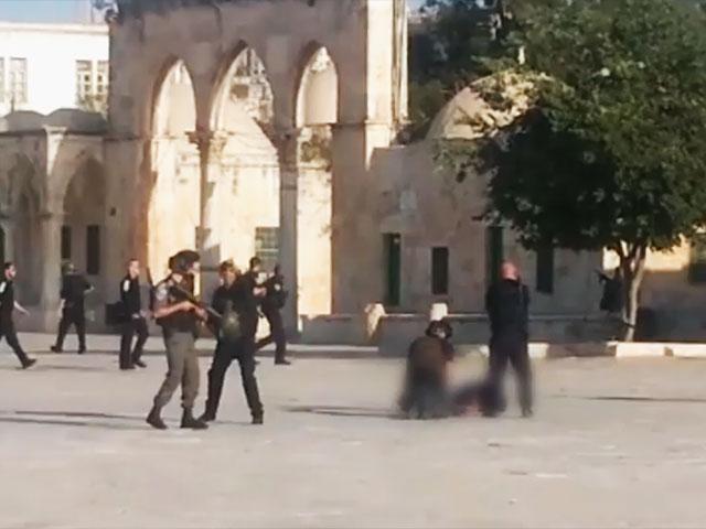 Ataque en el Monte del Templo en Jerusalén.