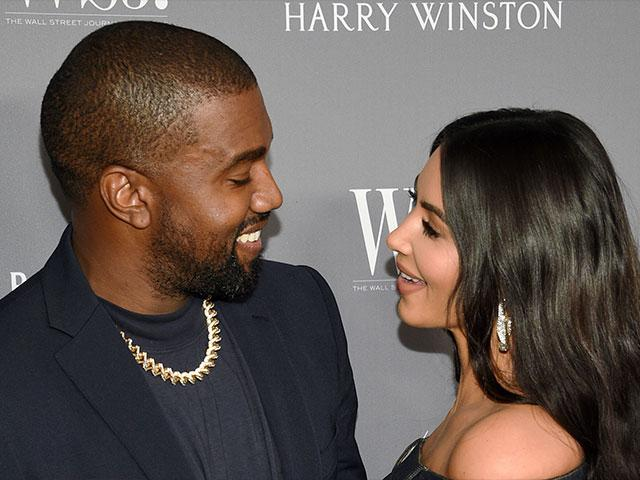 Kanye West and Kim Kardashian. (AP Photo)
