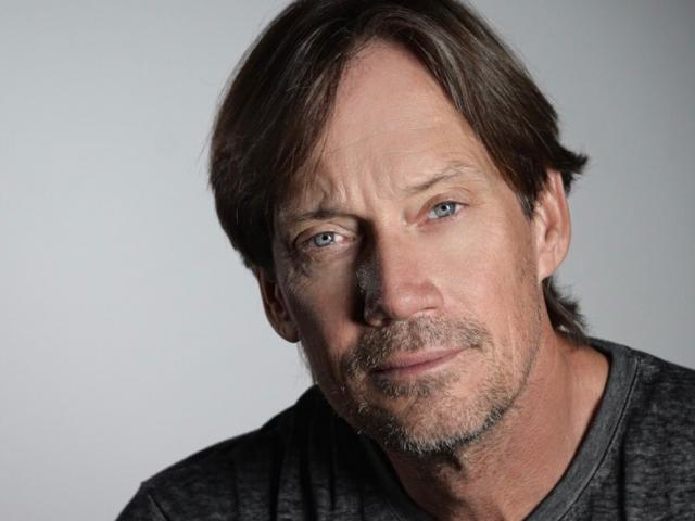 Kevin Sorbo wearing a black tshirt