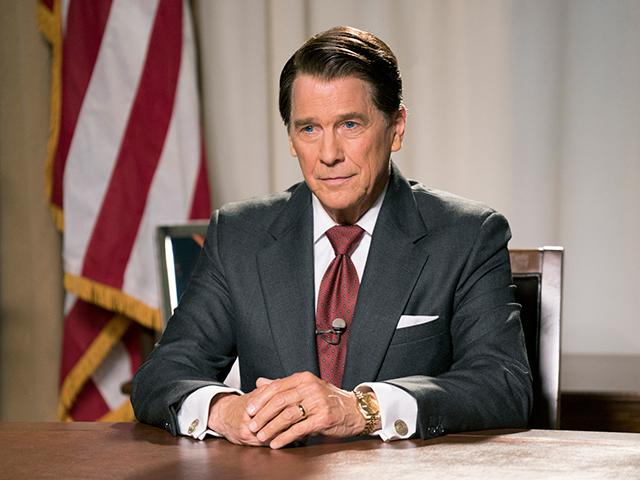 Tim Matheson (as Ronald Reagan) in Killing Reagan..(Photo Credit: National Geographic Channels/ Hopper Stone, SMPSP).
