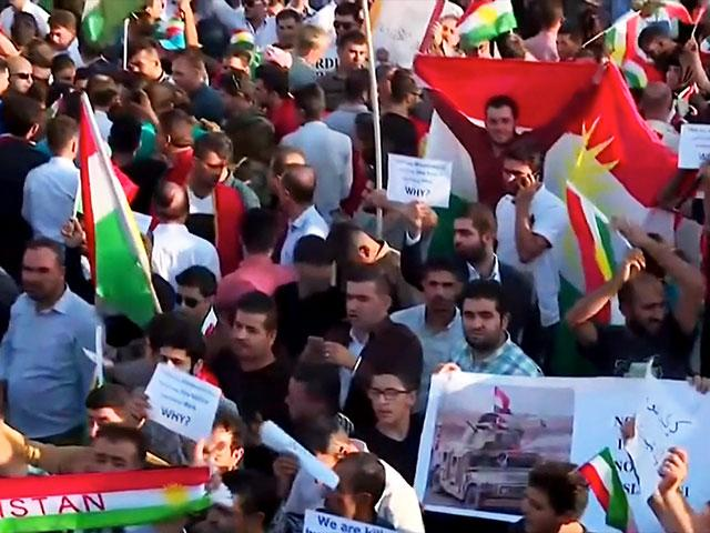 Kurds Protest Lack of US Response to Military Campaign against Kurdish Government