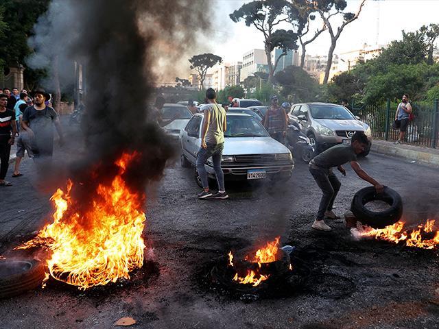 Lebanese protests. AP