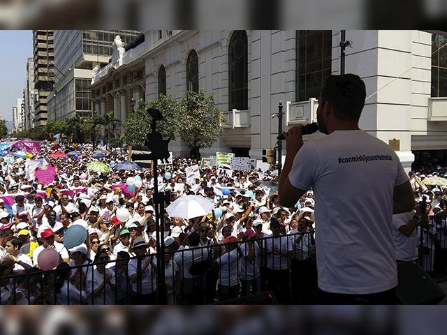 Marcha Con Mis Hijos No Te Metas en Guayaquil. (Foto: Rafael Montero)