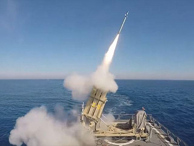 Testing the Maritime Iron Dome Anti-Missile Battery, Photo, IDF Spokesman's Office