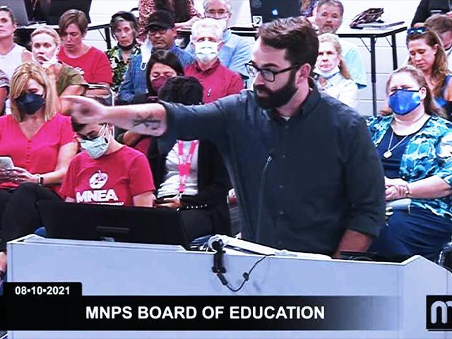 Matt Walsh (Image: MNPS Board of Education/Screenshot)