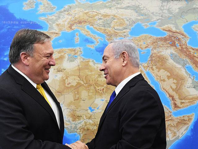 Israeli Prime Minister Benjamin Netanyahu and US Secretary of State Mike Pompeo