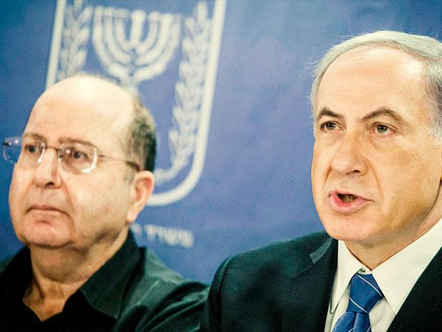 Former Israel DM Moshe Ya'alon and PM Benjamin Netanyahu, Photo GPO archive, Haim Zach