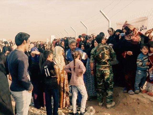 Mosul refugees, CBN News image, Jonathan Goff