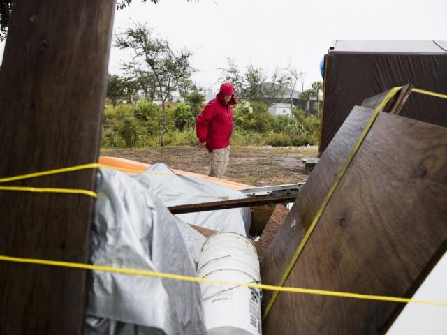 Forecasters say a disturbance moving through the Gulf of Mexico has become Tropical Storm Nestor (Joshua Boucher/News Herald via AP)