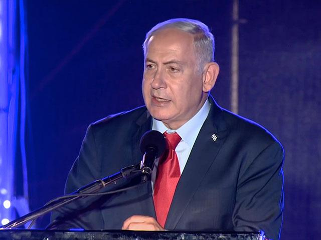 Israeli Prime Minister Benjamin Netanyahu at Dedication of Restored 1,500-Year-Old Synagogue on the Golan Heights, Photo, Screen Capture, AP