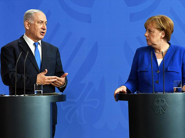 Israeli Prime Minister Benjamin Netanyahu and German Chancellor Angela Merkel, Photo, GPO, Haim Zach