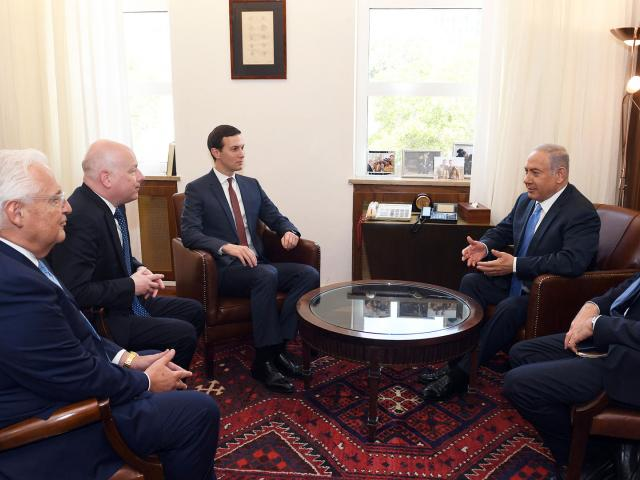 Israeli Prime Minister Benjamin Netanyahu Meets with US Envoys Jared Kushner and Jason Greenblatt and US Ambassadors David Friedman and Dan Shapiro, Photo, GPO, Haim Zach