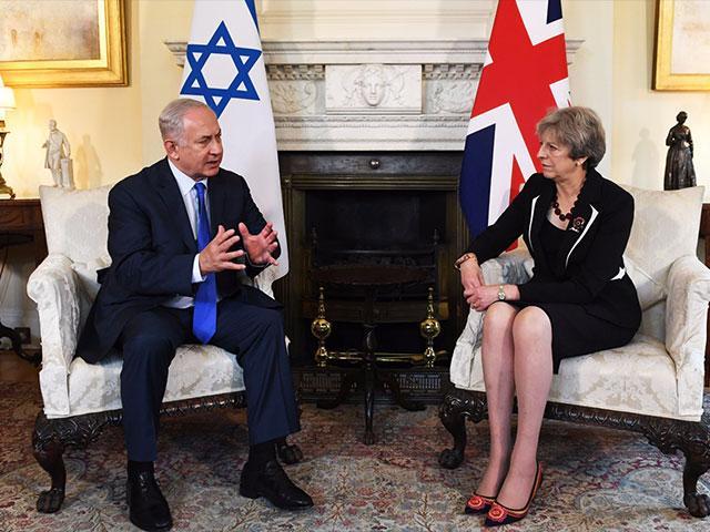 Israeli Prime Minister Benjamin Netanyahu and British Prime Minister Theresa May, Photo, Styles: Kobi Gideon Ltd.