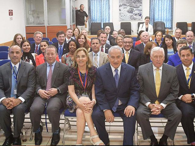 Members of the US House of Representatives with Israeli PM Netanyahu in Jerusalem, Photo, GPO, Amos Ben Gershom
