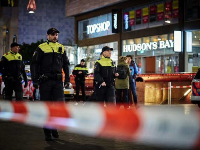 Dutch police say multiple people have been injured in a stabbing incident in The Hague's main shopping street. (AP Photo/Phil Nijhuis)
