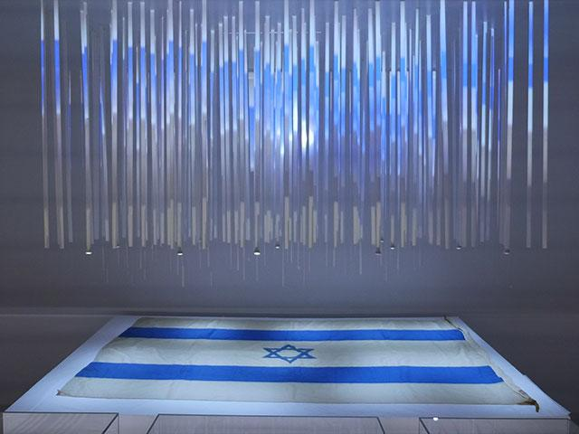 "Bible Lands Museum Jerusalem Exhibit, ""Out of the Blue,"" Photo, CBN News, Jonathan Goff"