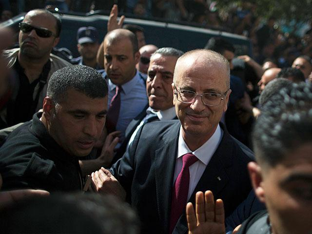 Palestinian Authority Prime Minister Rami Hamdallah in Gaza, Photo, AP archive