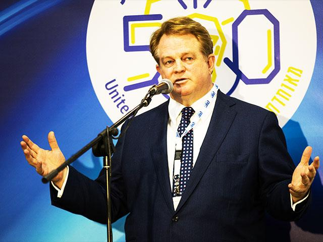 CBN CEO Gordon Robertson at the Christian Media Conference in Jerusalem