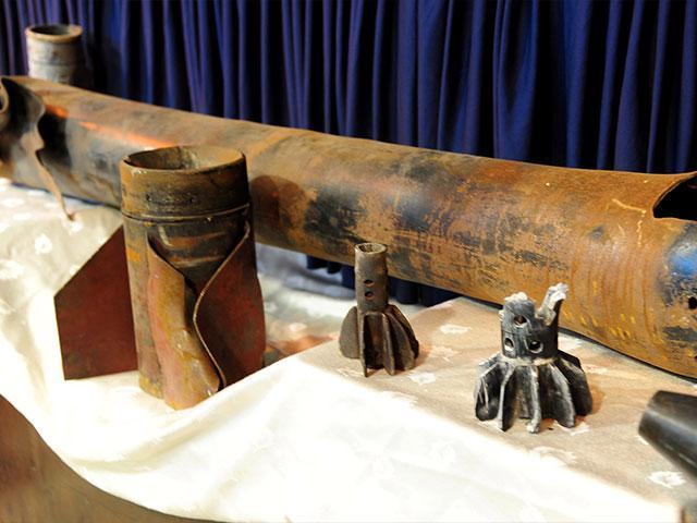 Rocket shell, Courtesy GPO archives, Photo, Kobi Gideon