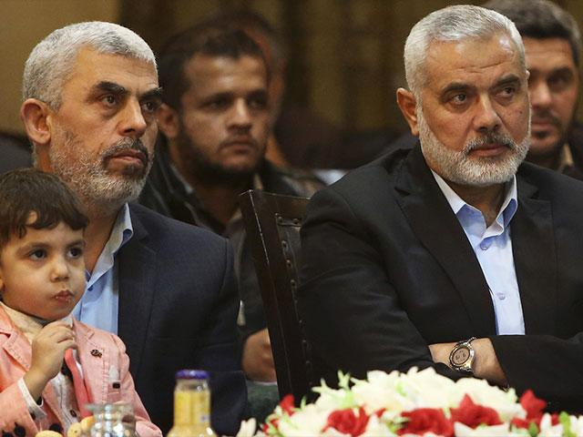 Hamas Leaders Yahya Sinwar and Ismail Haniyeh, Photo, Courtesy SBS Screen Capture