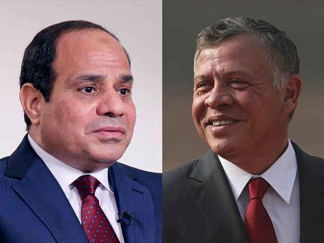Egyptian President Abdel Fattah el-Sisi (left) and Jordanian King Abdullah II, Image, CBN News