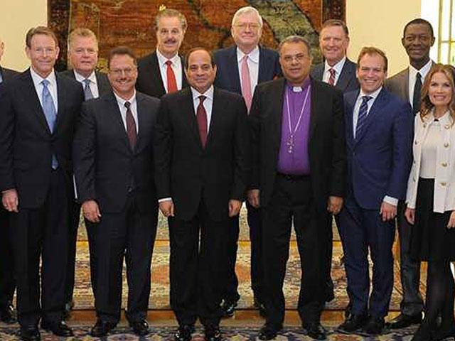 US Christian Delegation with Egyptian President Fattah Abdel el-Sisi, Photo, Courtesy Joel Rosenberg