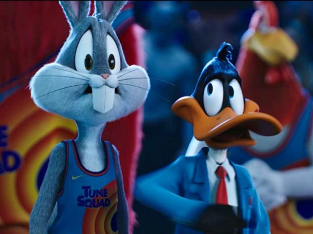 Bugs Bunny and Daffy Duck in Space Jam a New Legacy