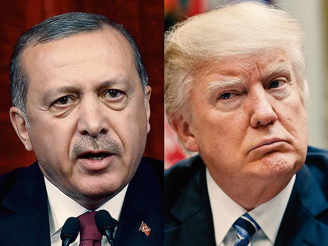 Turkish President Recep Tayyip Erdogan and US President Donald Trump, AP photo