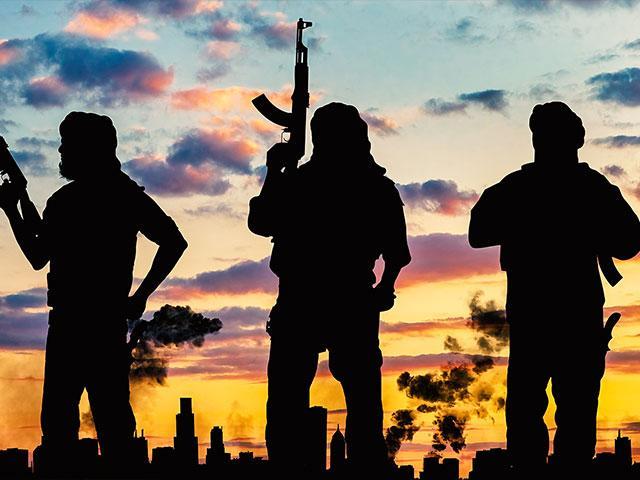 terrorist silhouette