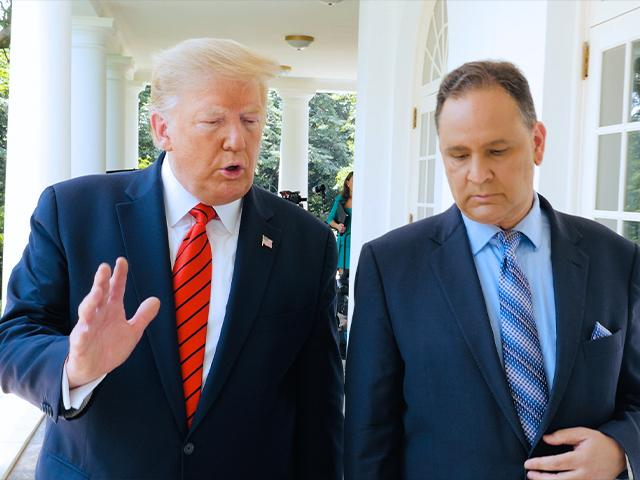 President Trump and CBN News Chief Political Analyst David Brody at the White House.