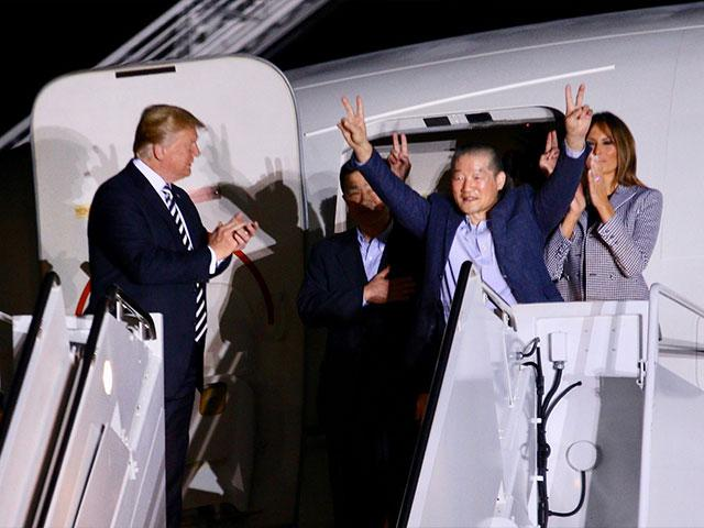 President Trump Greets 3 Freed Americans, Photo, CBN News, Mario Gonzalez