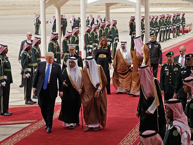 President Trump with King Salman
