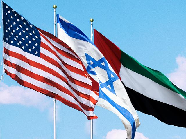 usa israel uae flags