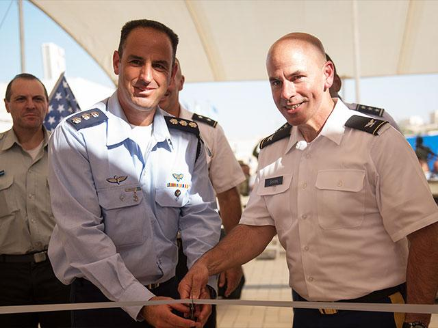 IDF Brig. Gen. Tvika Haimovitch and US Maj. Gen. John Gronski Inaugurate 1st Permanent US Military Base in Israel, Photo, IDF